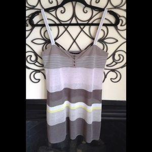MARC CAIN beautiful fine knit linen blend top S